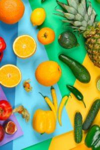 fruits et légumes entiers pour la santé et la peau