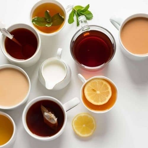 les différents types de thé pour l'acné